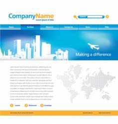 editable website vector image