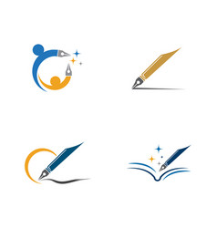 education logo template icon vector image