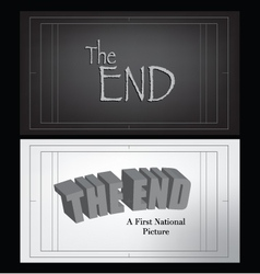 end credits vector image