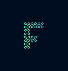 F circuit technology letter logo icon design vector