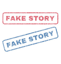 Fake story textile stamps vector