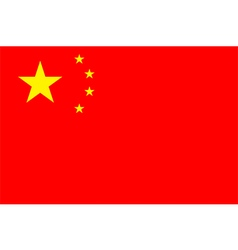 Flag of the Peoples Republic of China vector image