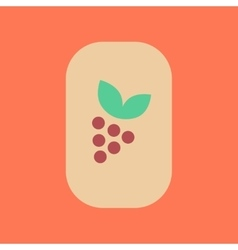Flat icon on stylish background poker grapes leaf vector