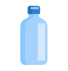 flat icon with blue bottle medical isolated vector image