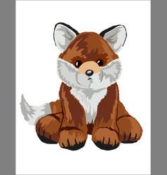 Fox stuffed toy vector