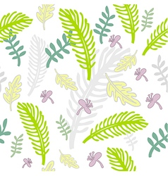 Freehand floral pattern vector
