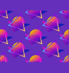futuristic seamless pattern gradient sun retro vector image
