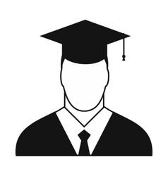 Graduate simple icon vector image
