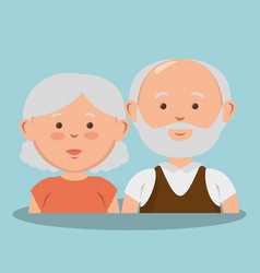 Grandparents couple avatars characters vector