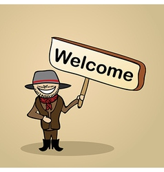 Greetingswelcome to australia people vector image