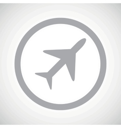 Grey plane sign icon vector image