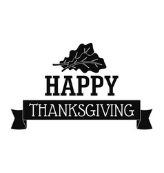 happy autumn thanksgiving logo simple style vector image