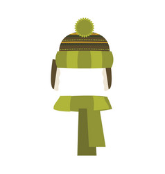 hat isolated on white background winter knitting vector image