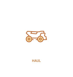 Haul concept 2 colored icon simple line element vector