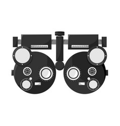 Isolated object gadget and optometrist sign vector