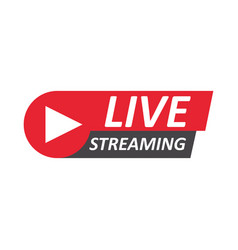 live stream sign emblem logo vector image