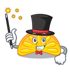 Magician orange jelly candy mascot cartoon vector