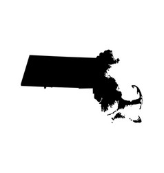 map of the us state massachusetts vector image