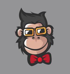 monkey handsome vector image