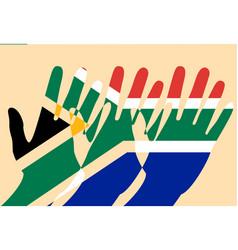 nelson mandela international day 18 july flag of vector image