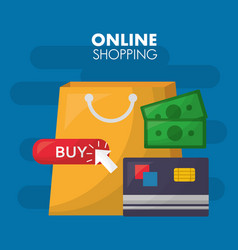 Online shopping card vector