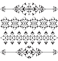 Oriental border and ornament seventeen vector