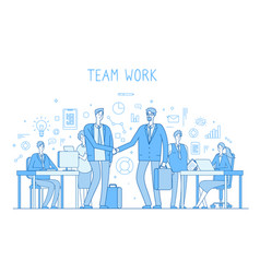 outsourcing team concept creative business vector image