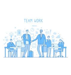 Outsourcing team concept creative business vector