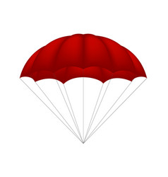 Parachute in red design vector