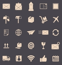 Post color icons on grey background vector