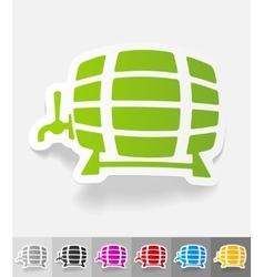 Realistic design element keg of beer vector