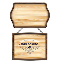 Realistic wooden signboards or wood plank vector
