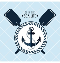 Sea life design nautical and marine concept vector