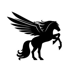 sign of a black pegasus vector image