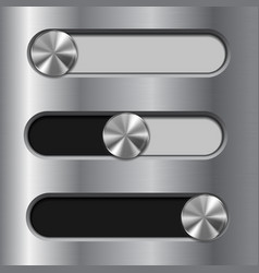 slider toggle switch interface button vector image