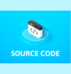 Source code isometric icon isolated on color vector