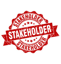 stakeholder stamp sign seal vector image