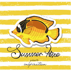 summer background fun quote vector image