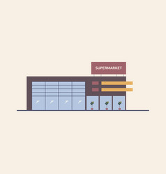 Supermarket shopping mall or big box store built vector