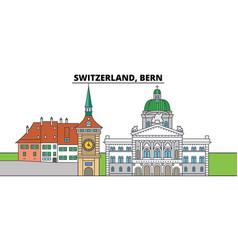 switzerland bern city skyline architecture vector image