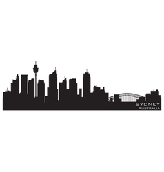 Sydney australia skyline detailed silhouette vector