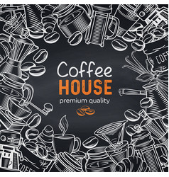 Template coffee shop page vector