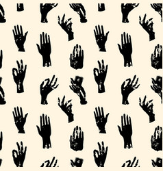witch hands pattern vector image