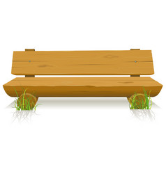 Wood bench vector