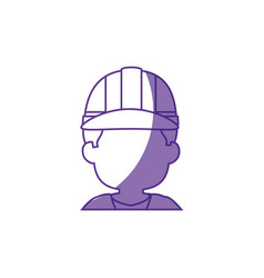 Worker faceless profile vector