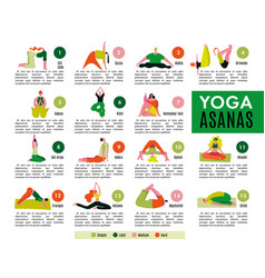 Yoga flat infographics vector