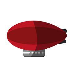 Zeppelin balloon icon image vector