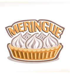 italian dessert meringue vector image
