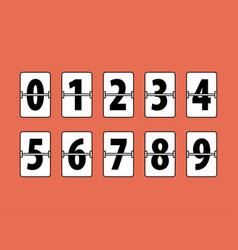 flip clock numbers vector image