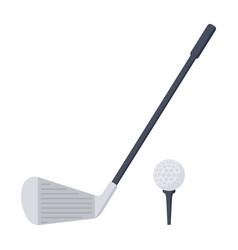 golf icon vector image